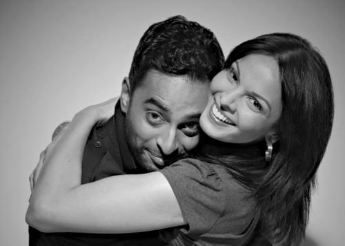 Manu Narayan and Seema Rahmani in Good Night/Good Morning.